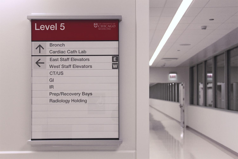 University Of Chicago Medical Center Serigraphics Sign